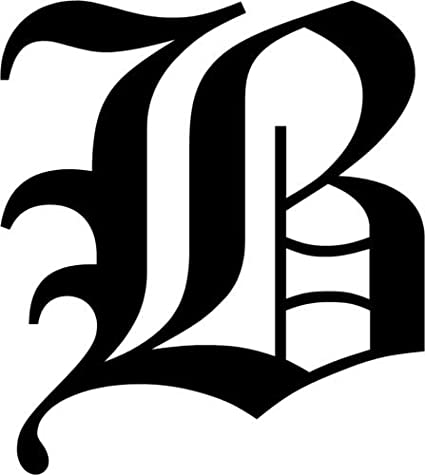 Amazon.com: Old English Letter B Rubber Stamps custom stamps