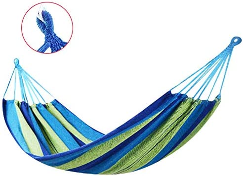 Hanging Rope Hammock Chair Swing with Space Saving Stand, Sunset for Indoor or Outdoor Patio Black