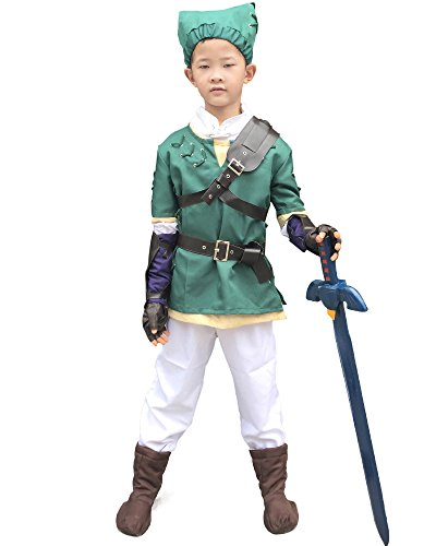 [Miccostumes Boy's Zelda Twilight Princess Link Cosplay Costume (M)] (Princess Zelda Cosplay Costume)