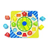 New Wooden Shape Sorting Clock Toys Numbers and Shapes Matching Game Toys for Children (Type A)
