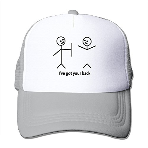 Stick Figure Costume Baby (Lihed Stick Figures I Have Got Your Back Trucker Cap Athlete Mesh Caps Hats Ash)