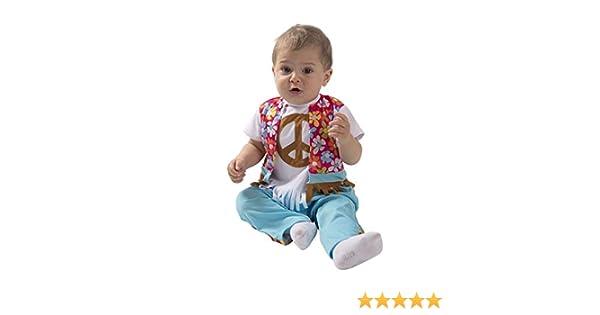 Disfraz de Hippie con Flores para bebé: Amazon.es: Juguetes y juegos