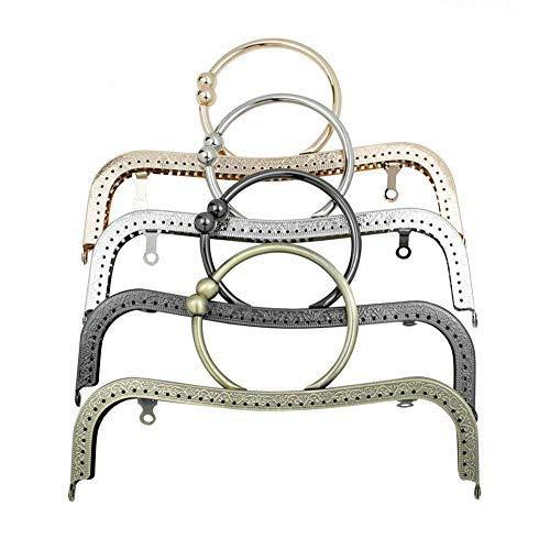GuoFa Monedero de metal, cierre de broche, 4 piezas 22 cm/8 ...