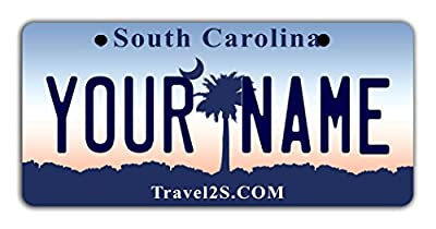 "BleuReign(TM Personalized Custom Name State Bicycle Bike Moped Golf Cart 3""x6"" License Plate Tag"