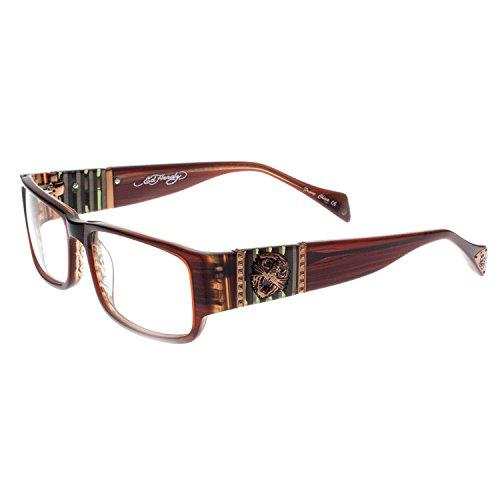 8c7e8c0ca6 Deluxe Comfort EHO-732 Womens Designer Eyeglasses - Brown Horn