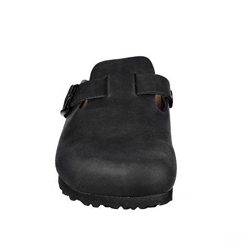 JOE N JOYCE Amsterdam Leather Slipper Narrow Black vvNfTXJRMr