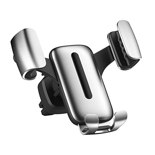 Gravity Cell Phone Mount for Car Car Cell Phone Holder One-Hand Operation Silver