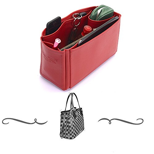 Leather Handbag Organizer, Leather bag insert for LV Neverfull PM , Express Shipping (Pm Leather)