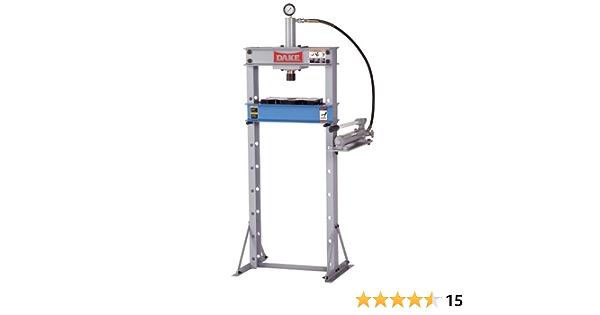 Dake B-10 Model Manual Utility Hydraulic Bench Press 23 Length x 18 Width x 36 Height 10 Ton Capacity