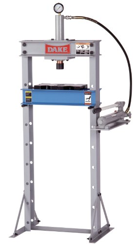 Dake F-10 Model Manual Utility Hydraulic Floor Press, 10 Ton Capacity, 24'' Length x 28'' Width x 60'' Height by Dake