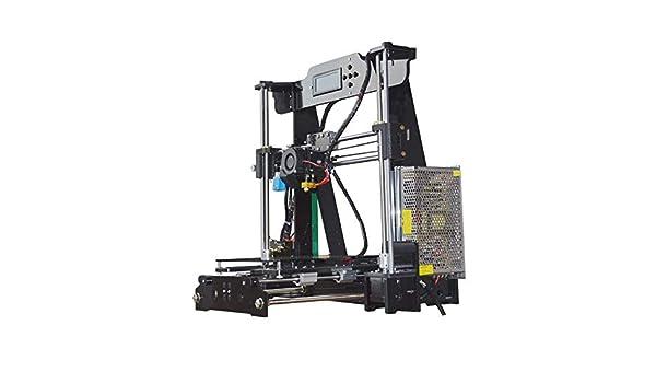 LJW DIY Impresora 3D Full Metal 0.1mm Monocromo Imprimir Fácil ...