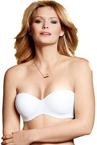 picture of Lilyette Strapless Bra With Convertible Straps 0929, 38DD, White Tailored