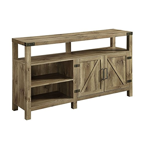 Pemberly Row 58  Highboy Console In Barnwood