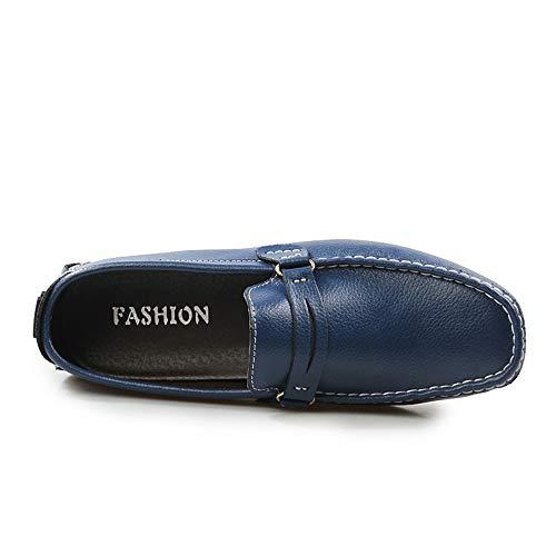 Tamaño 5cm Confortables Corte bajo único Pisos Suave Marrón Cuero de Moccasin Zgsjbmh Mocasín 28 de Gommino Azul Zapatos y de de 24 Azul genuinos liviano Diseño Gommino Zapatos Negocios 0cm wSHWRx7qA