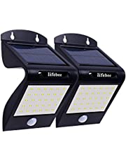 Solar Light, LIFEBEE Solar Motion Sensor Security Lights Outdoor 30 LED Waterproof Solar Powered Bright Light for Garden Yard Outside Wall Pathway Stair Patio Driveway Fence (2 Pack)