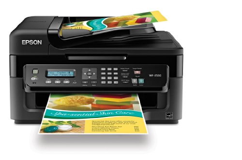 harga Epson WorkForce WF-2530 Wireless All-in-One Color Inkjet Printer, Copier, Scanner, ADF, Fax. Prints from Tablet/Smartphone. AirP Hargadunia.com