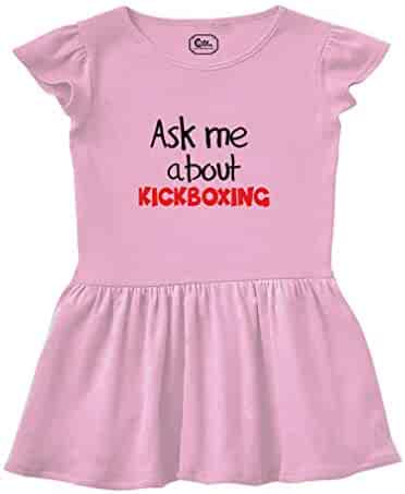 49ae9fe9fe9 Cute Rascals Ask Me About Kickboxing Sport Short Sleeve Taped Neck Girl  Cotton Rib Dress