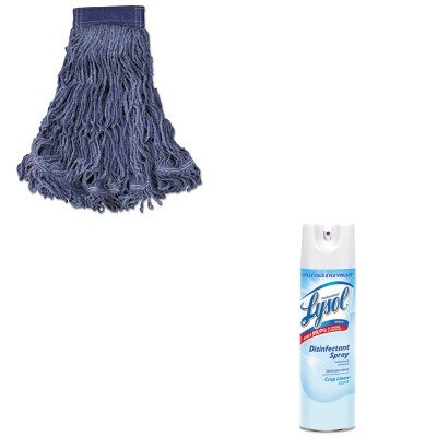 KITRAC74828CTRCPC154BLU - Value Kit - Rubbermaid Swinger Loop Wet Mop Head (RCPC154BLU) and Professional LYSOL Brand Disinfectant Spray (RAC74828CT)