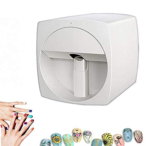 DXXCV 3D Nail Printer Machine Automatic Nail Painting Machine Multifunction Portable Mobile WiFi Wireless Easy All-Intelligent Nail Printers
