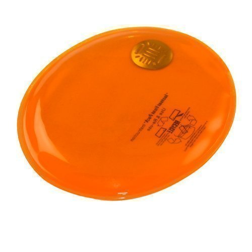 eBuyGB Reusable Gel Hand Warmer / Heat Pack - Instant Heating (Orange Oval)