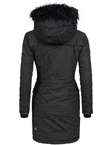 Charcoal Khujo Khujo Mujer Abrigo Charcoal Abrigo para Khujo Mujer para 5aqwWE6n