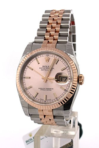 73129e8a5b8 Rolex Datejust 36 Pink Champagne Dial Steel 18k Rose Gold Ladies Watch  116231 – Kingdom Watches