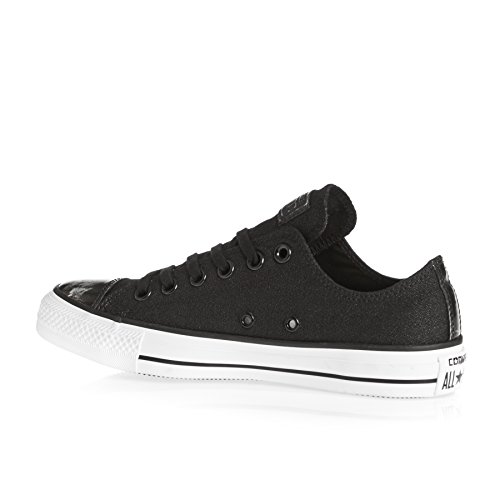 Converse Women CTAS Brush Off Leather 553307C Sneakers Black/Pure Silver/White HkrmN