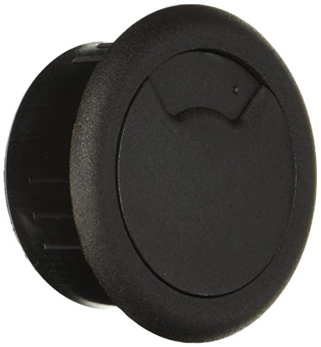 "Cordaway 2"" Desk Grommet, Adjustable Cord Cover, Cable Hole Wire Management, Three Different Sized Opening, Made In USA, Black Plastic (00201) from Cord Away"