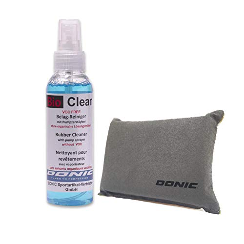 DONIC Bio Clean Table Tennis Rubber Cleaner (250ml with Sponge) (Tennis Racket Table Cleaner)