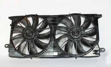 TYC 621410 Cadillac Seville Replacement Radiator/Condenser Cooling Fan Assembly