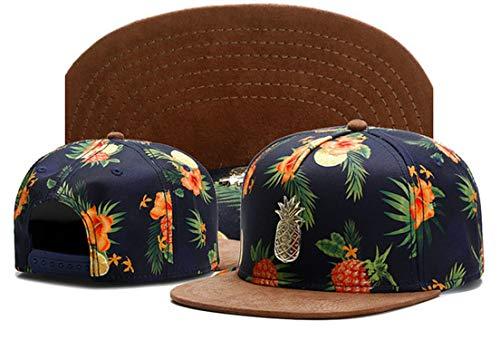 bredLily 2019 New Embroidery Metal Pineapple Snapback Hats for Men Baseball Caps Retro Gorras Hats Planas Chapeau Flat