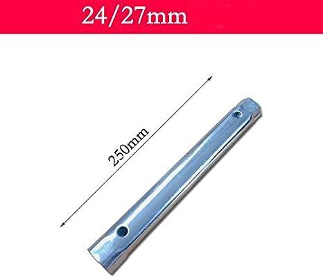 Vogueing Cl/é /à tube m/étrique pour robinet monobloc 8 /à 40 mm Fixation extra longue pour valves de tuyau 1 pi/èce argent