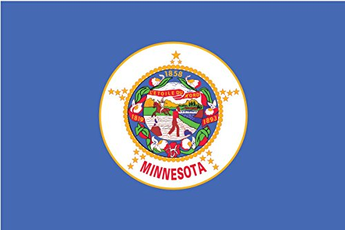 2-Pack Minnesota State Flag Decal Sticker | 5-Inches By 3-Inches | Premium Quality Vinyl | PD329 (Minnesota Vikings Window Flag)