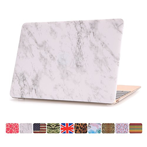 Macbook 12 Inch Case,Dowswin Matt Hard Shell Rubberized Plastic Protective Solid Case Cover for Apple Macbook Retina 12.1' Model A1534 laptop(Marble Texture)