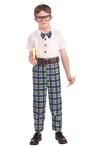 Child's Milk Maid Costume (Class School Nerd Child Costume (L))