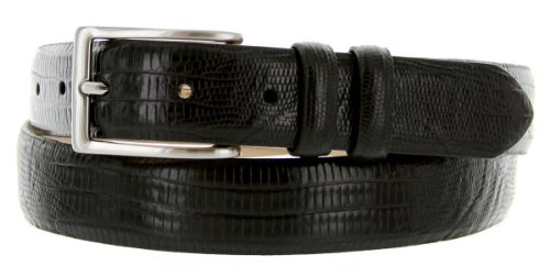 Lizard Dress Belt (Adam Men's Italian Leather Dress Belt 1 1/8