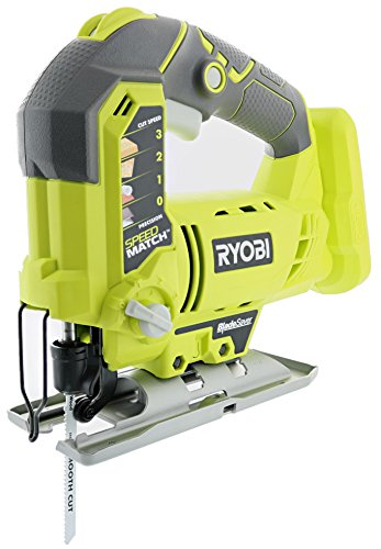 Ryobi One P5231 18V Lithium Ion Cordless Orbital T-Shaped 3,000 SPM Jigsaw Battery Not Included, Power Tool and T-Shaped Wood Cutting Blade Only