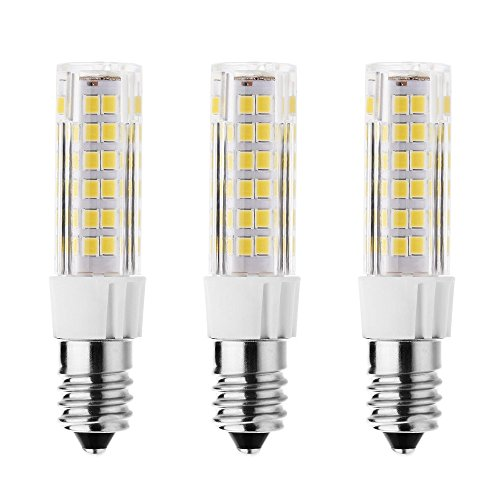 Rayhoo 3pcs E14 Base LED Bulb 7W LED Light, 75-2835-SMD LED Chipsets, 60W Incandescent Bulb Equivalent, Not Dimmable, Warm White 2800-3200K, 500LM