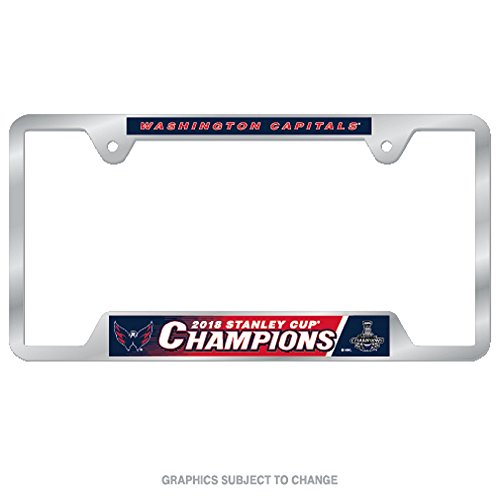 WinCraft Capitals Washington Stanley Cup Champions Metal License Plate Frame