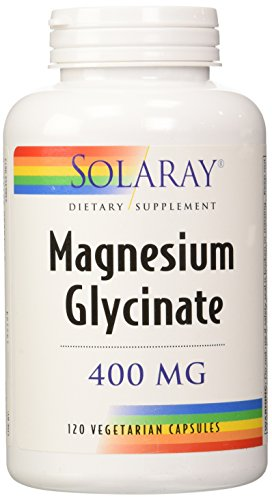 Solaray Magnesium Glycinate Dietary Supplement, 400 mg per 4