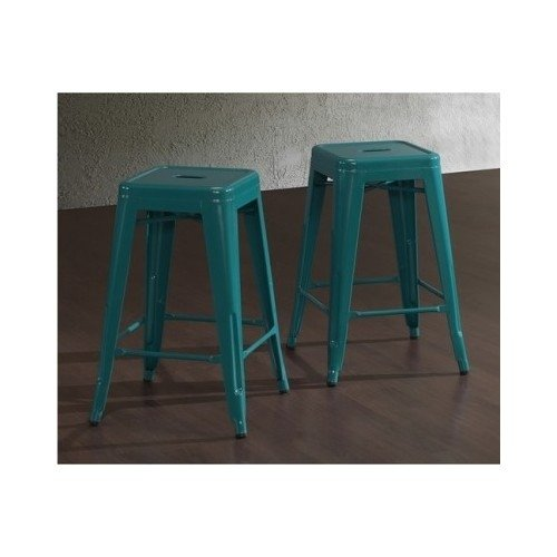 Tabouret Bar Stools Bar Height 24 Inches Metal Set of 2