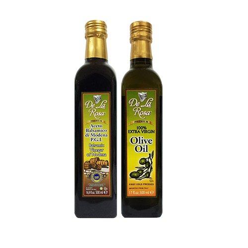 s & Vineyards - Kosher Italian Aged Balsamic Vinegar of Modena & Kosher EVOO 16.9 oz each (Balsamic California Olive Oil)