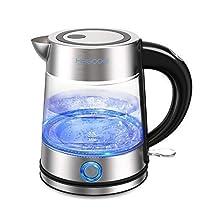 HAGOOGI 電気ケトル ステンレス ガラス ケトル お湯 ポット 安全で衛生 抗菌 湯沸かし 贈り物
