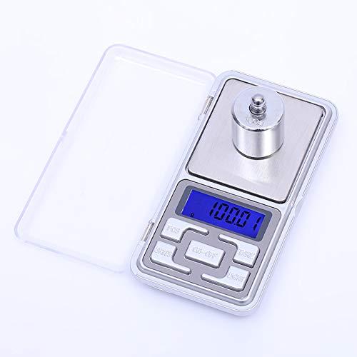Báscula portátil digital pequeña, báscula electrónica de joyería de alta precisión, báscula de peso de bolsillo con pantalla LCD, 500 g 0,01 g para ...