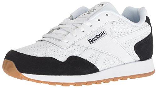 Reebok Men's CL Harman Run Sneaker, Black White/Gum, 5 M US
