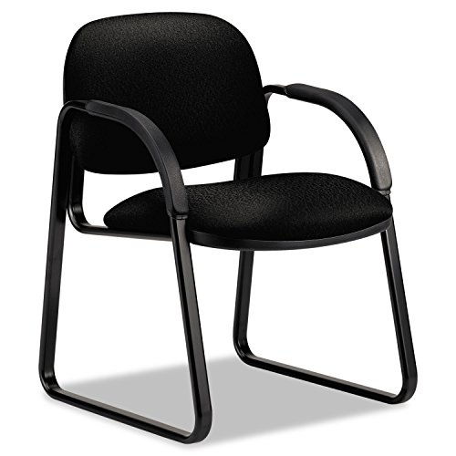 HON Sensible Seating Guest Arm Chair, Tectonic Fabric, Black-- by BND 631530441782 6008NT10T