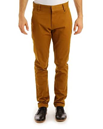 WeSC The Eddy Chino Pants in Golden Brown,31W x 32L,Brown