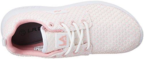 L.A. Gear Sunrise - Zapatillas de casa Mujer Weiß (white/pink/stars)