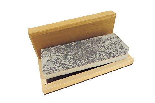Combination Arkansas Stone (Natural Authentic Arkansas Combination Soft (Medium) and Hard (Fine) Knife Sharpening Bench Stone Whetstone 6