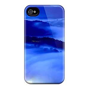 New Style OliviaDay Hard Case Cover For Iphone 4/4s- City Lights In Mist